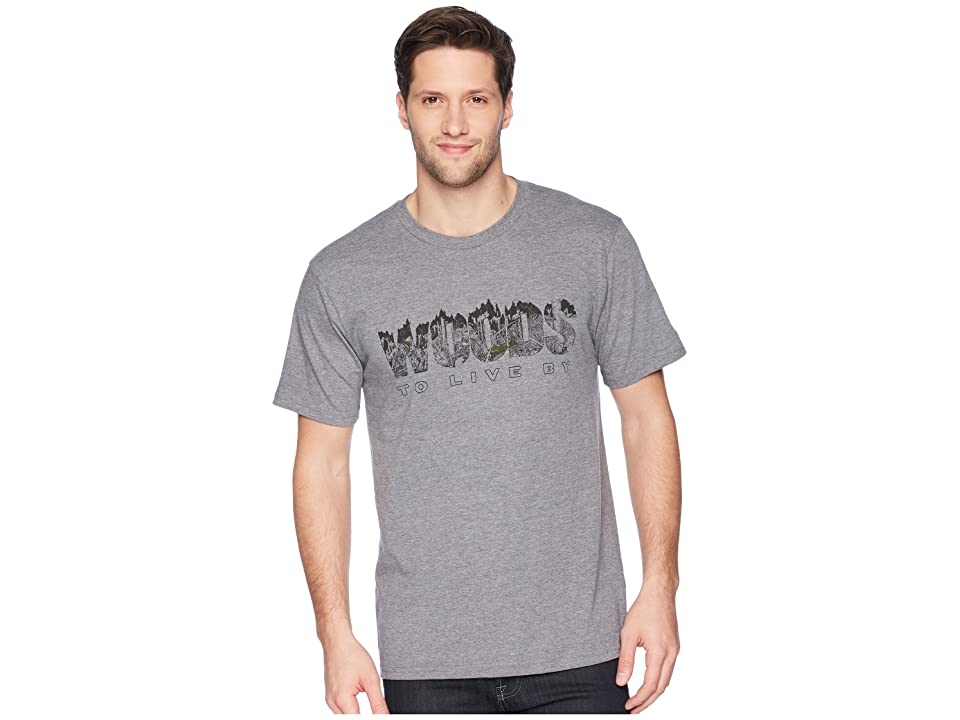 Toad&Co Woods To Live By Short Sleeve Tee (Gray Heather) Men