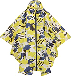 QZUnique Women Men Lightweight Outdoor Ripstop Waterproof Packable Rain Jacket Poncho Raincoat with Hood