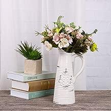 YUJINMAOYI Blanco de cer/ámica de imitaci/ón Tienda Gran Puerta del Suelo cl/ásico de Maceta Seca arreglo Floral Moderna de Estilo Europeo,Blanco