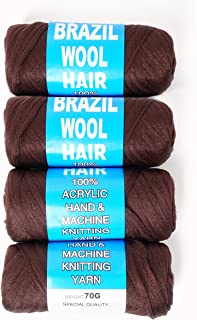100% Brazilian Wool Hair Acrylic Yarn For African Braids/Senegalese Twist/Faux Locs/Wraps