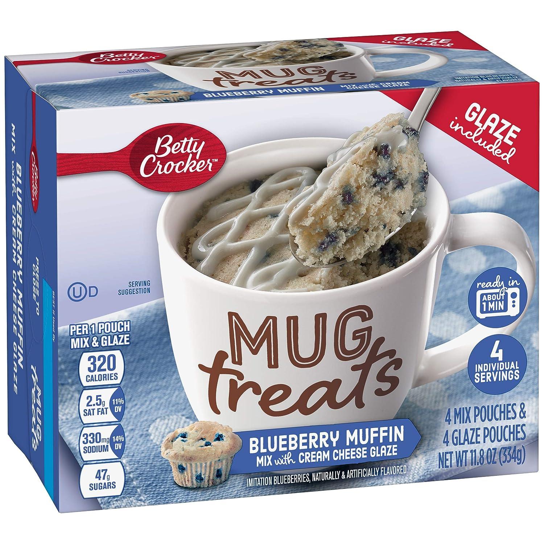 unisex Betty Crocker Mug Treats High quality new Blueberry Muffin 11.8 oz 4 Count Pa