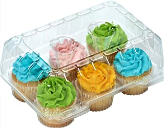 Clear Cupcake Boxes Cupcake Containers Plastic Disposable cupcake boxes carrier containers 4