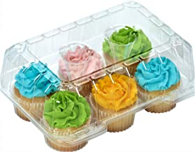 "Clear Cupcake Boxes Cupcake Containers Plastic Disposable cupcake boxes carrier containers 4"" High for high topping - Hold..."