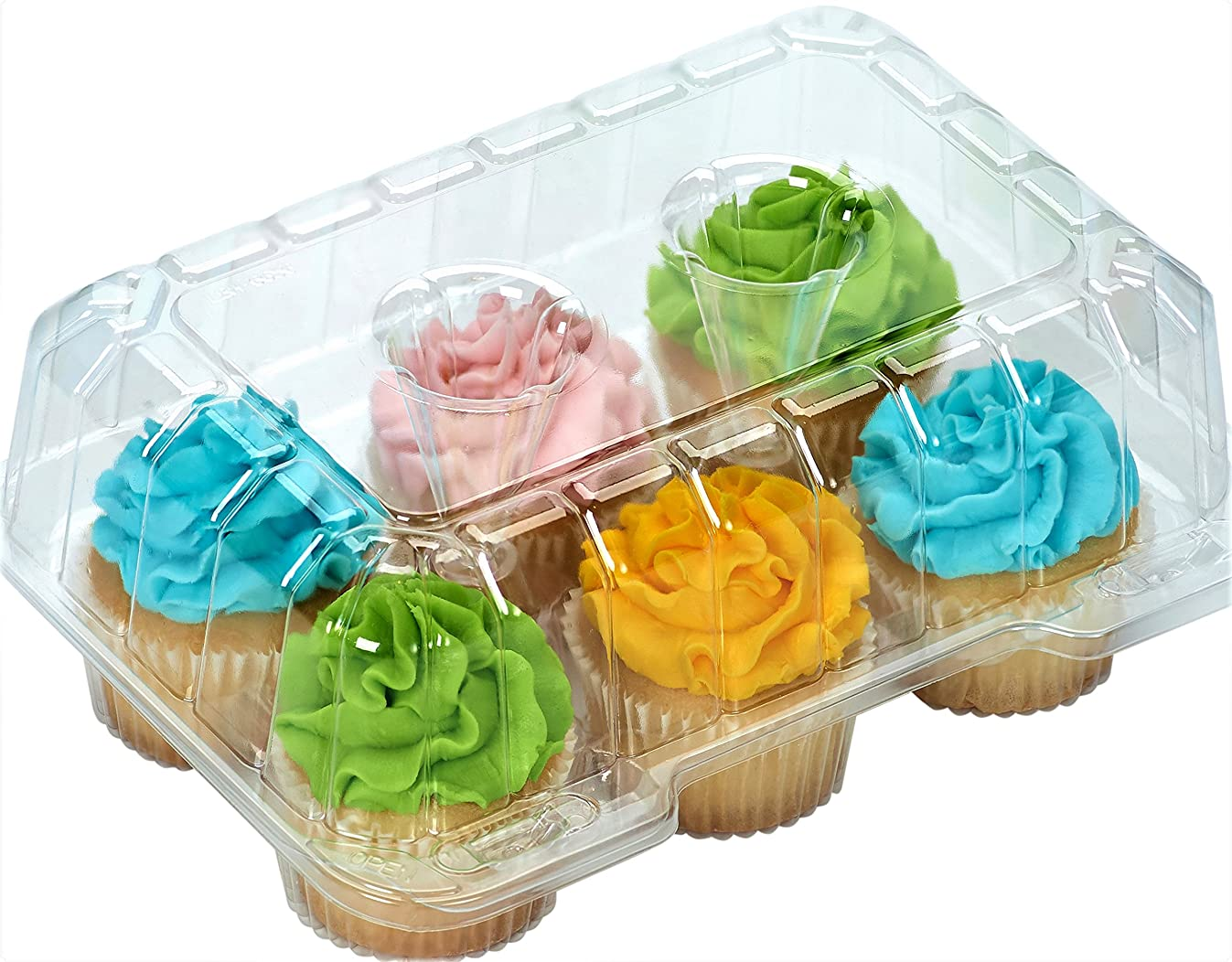 Clear Cupcake Boxes Disposable plastic cupcake boxes containers 4