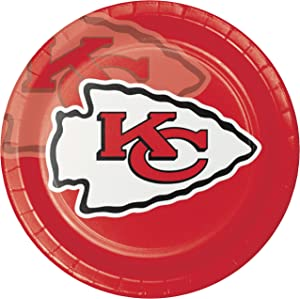 Creative Converting 8 Count Kansas City Chiefs Paper Dinner Plates