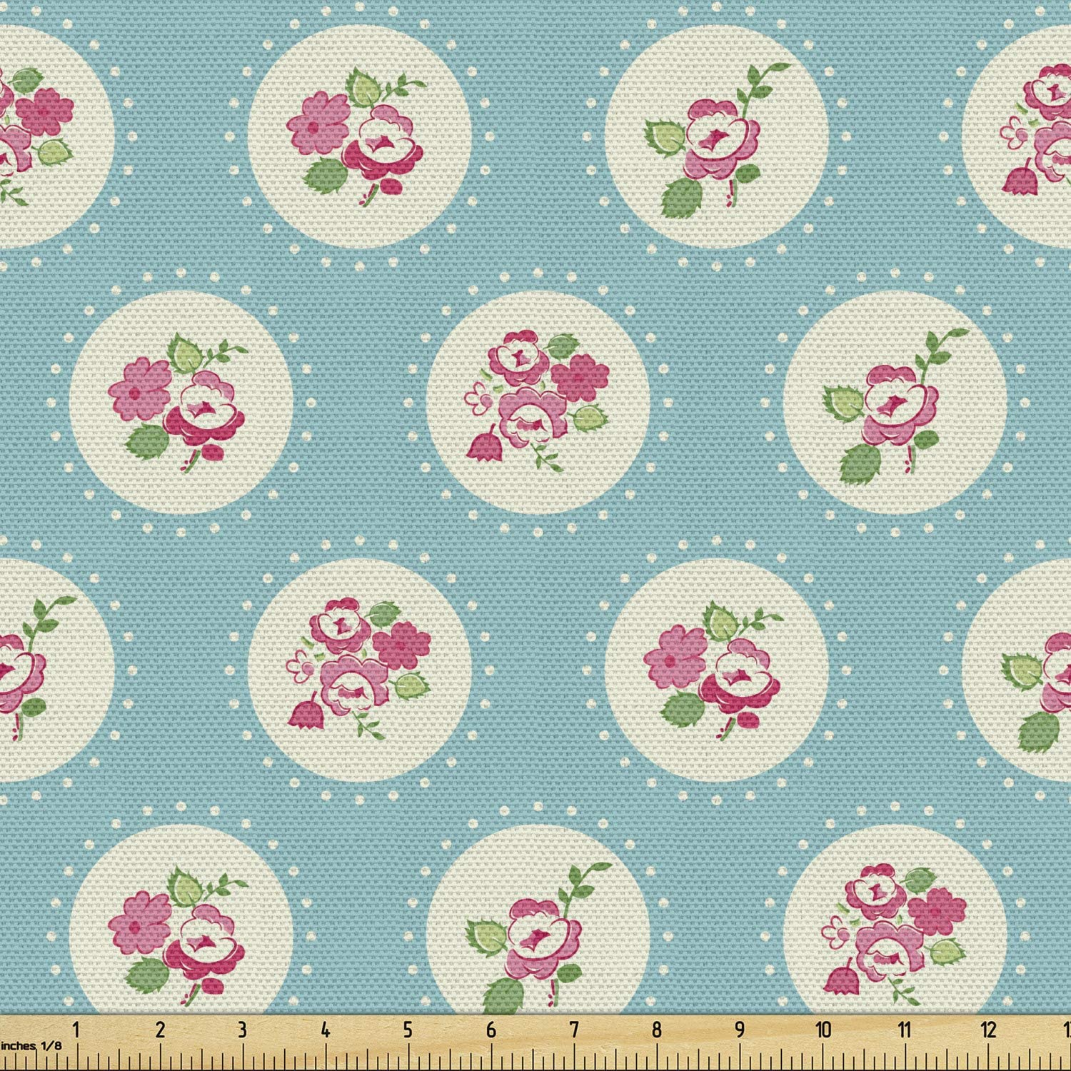 Max 44% OFF Ambesonne Shabby Flora Fabric by The Yard Circular with Pattern Max 46% OFF