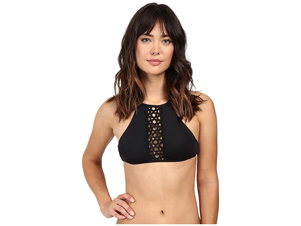 BECCA by Rebecca Virtue Siren High Neck Top (Black) Women