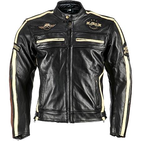 Xls Motorradjacke Classic One Für Herren Schwarz Retro Bikerjacke Herausnehmbares Thermofutter Größe M Auto