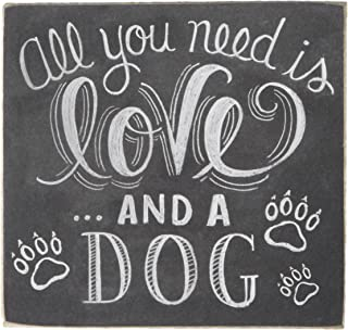 Primitives by Kathy Wooden Chalk Art Box Sign, 4.5 x 4.25-Inches, and A Dog