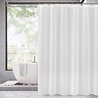 Dainty Home Shower Curtain, VALSCWH, White, 70x72''