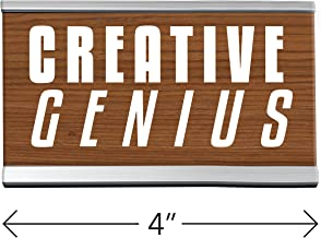 Creative Genius Desk Sign Brown