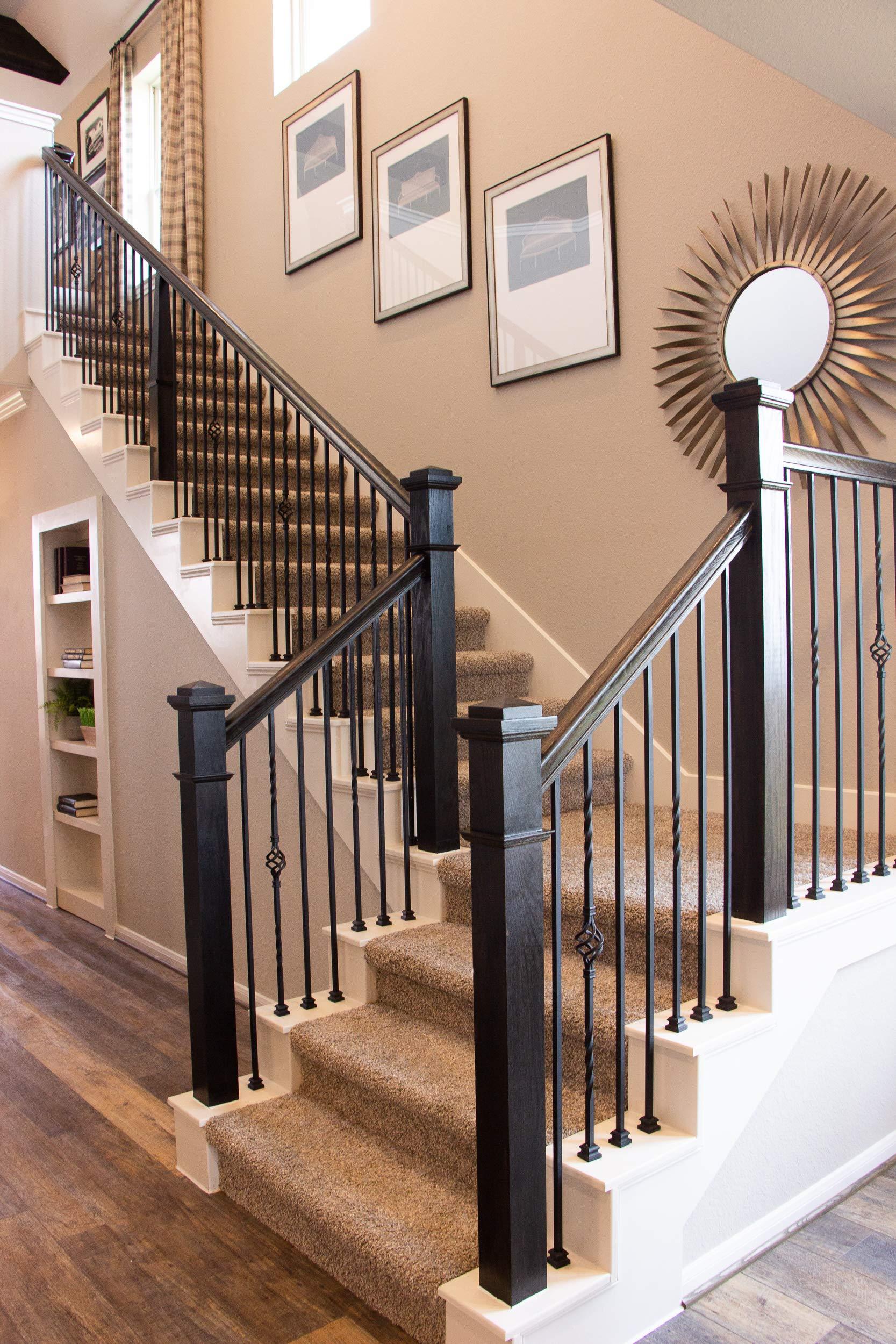 Pasamanos de recta 6010 serie – Colonial de madera Escalera pasamanos para escaleras Remodel: Amazon.es: Bricolaje y herramientas