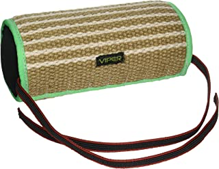 Viper Jute or Synthetic Linen Cylinder Bite Pillow Tug Toy Reward for Adult Dogs and Puppies