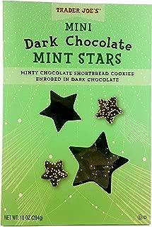 Trader Joe's Dark Chocolate Mint Stars Chocolate Shortbread Cookies 10 Oz.