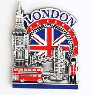 England London Metal Fridge Magnet Unique Design Home Kitchen Decorative Travel Holiday Souvenir Gift, Stick Up Your Lists Photos on Refrigerator