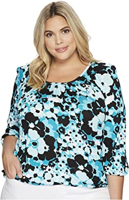 MICHAEL Michael Kors Plus Size Sprng Scoop Neck Top