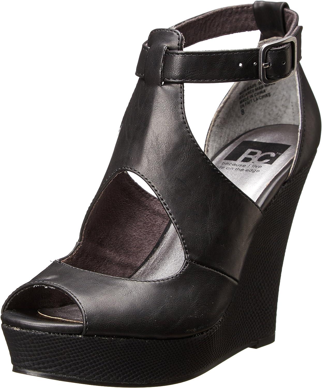 BC Footwear Women's Midnight Snack Wedge Sandal