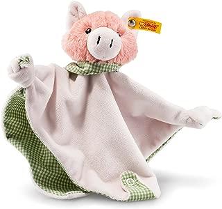 Steiff Happy Farm 小猪被子带摇铃,粉色/绿色