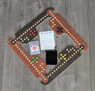 Rustic & Refined Design Jokers and Marbles Game (Brown, 4 Player)