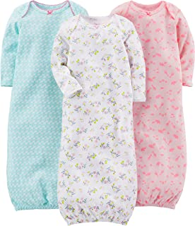Baby Girls' 3-Pack Cotton Sleeper Gown