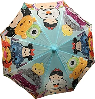 Disney Tsum Tsum Allover Print Light Blue Umbrella with 3D Handle- Blue