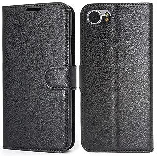 K-Xiang BlackBerry Keyone DTEK70 Case, [Credit Card Slot] [Built-in Stand] Retro PU Leather Wallet Case Flip Cover with for BlackBerry Keyone/Mercury/DTEK70 (4.5
