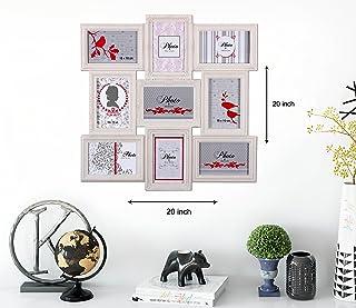 Art Street 'Nexus Collage' Wall Photo Frame (Plastic, 50 cm x 50 cm x 2 cm, White)
