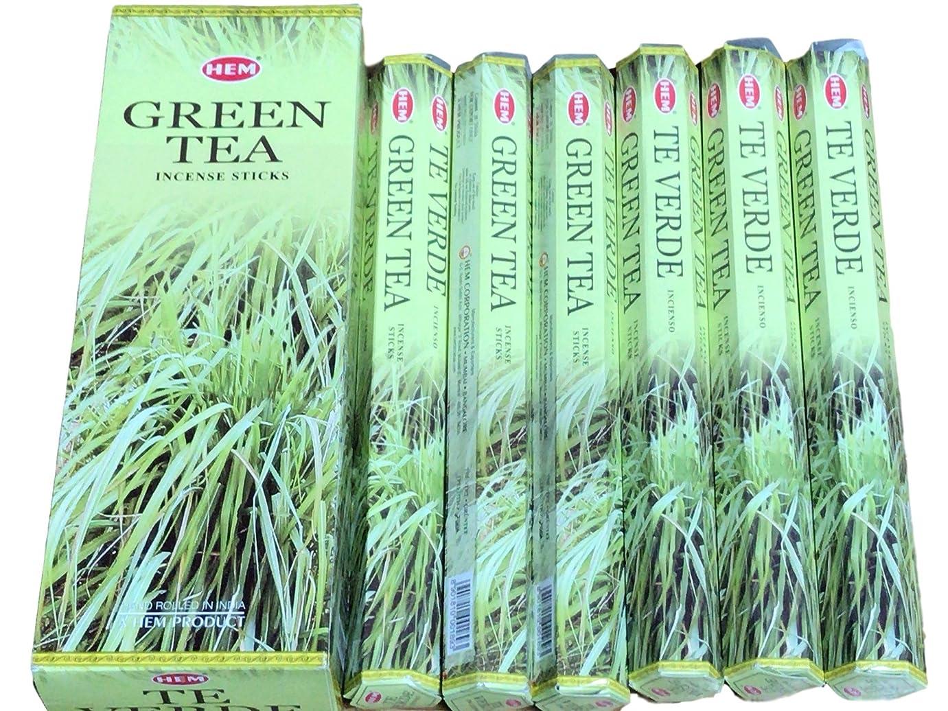基本的な突き出す保存するHEM ヘム グリーンティー GREENTEA ステック お香 6本 セット