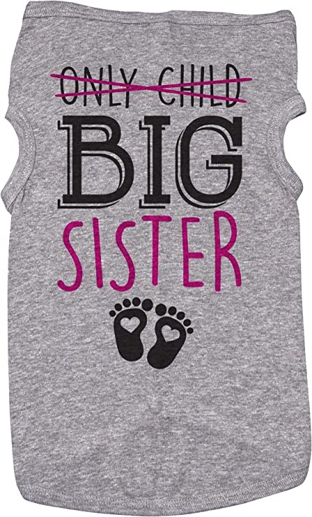 proud big sis doggy clothing Big Sister Security Dog Shirt Personalized with Name and Date Big Sister Dog Shirt big sis on duty