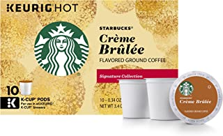 Starbucks Crème Brulée Flavored Blonde Light Roast Single Cup Coffee for Keurig Brewers, 6 Boxes of 10 (60 Total K-Cup pods)