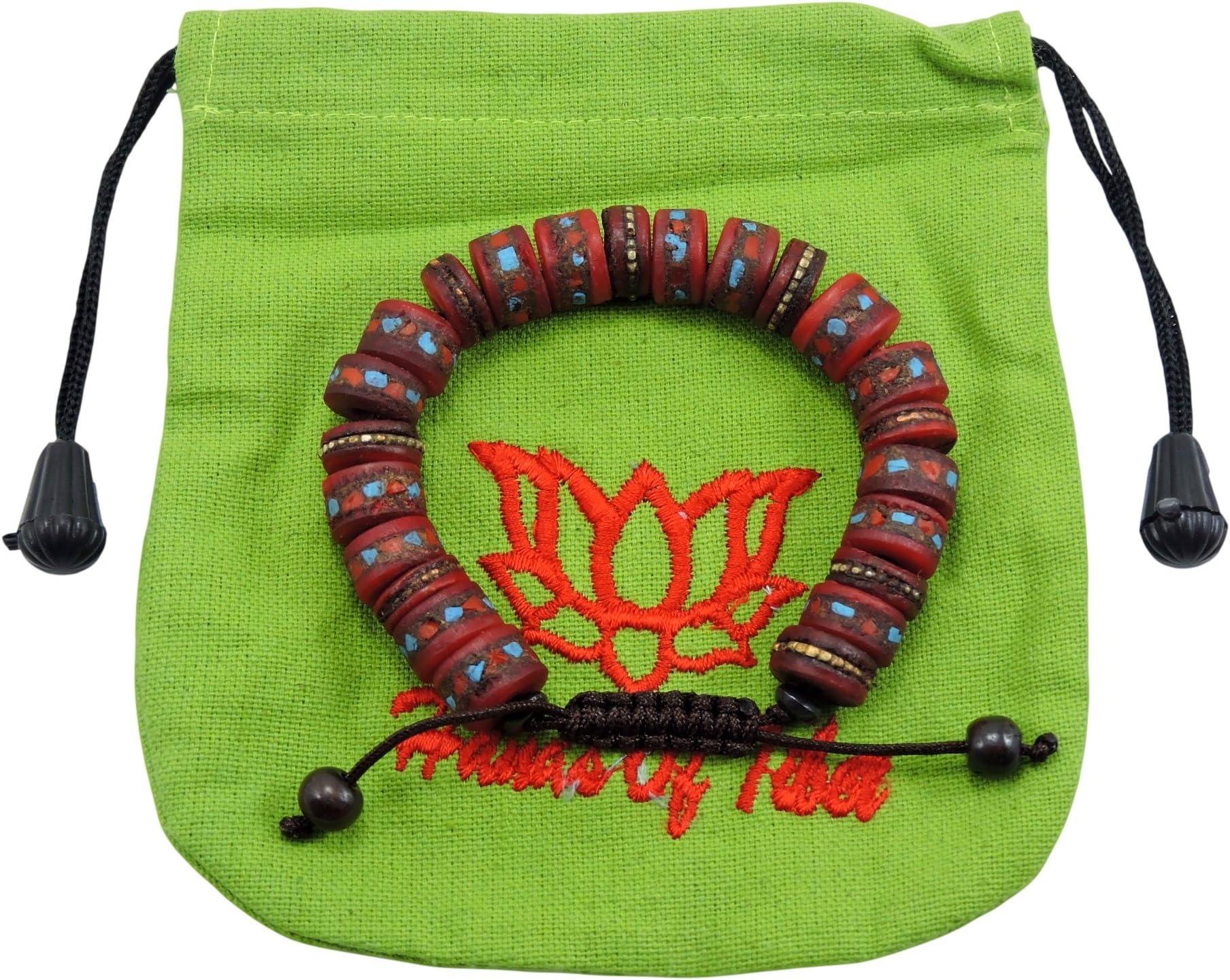 Om healing stretch bracelet Handcrafted in Nepal Tibetan Yak bone ...