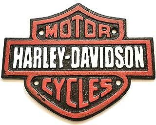 N/A Assorted Collections Harley Davidson Schild Gusseisen Werbung Garage Man Cave Motorrad Wandschild