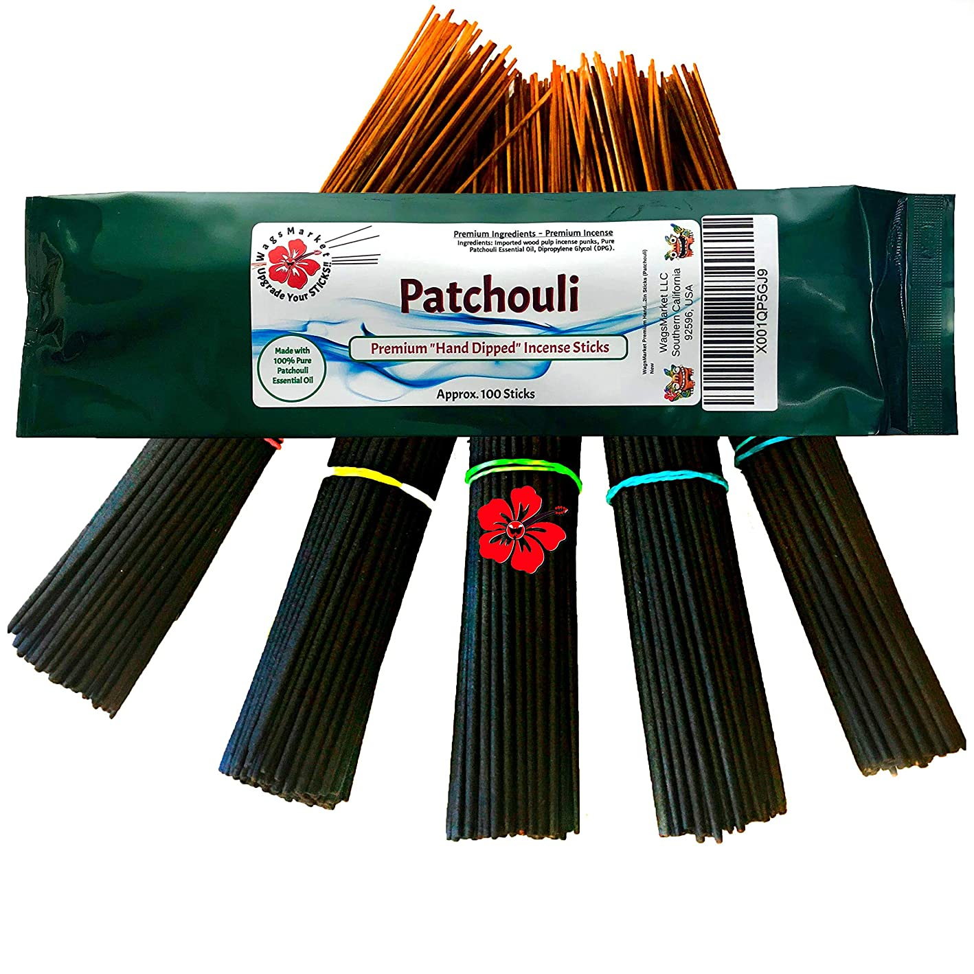 アンビエント水星反乱wagsmarket Incense Sticks?–?Patchouli | Nag Champa |サンダルウッド|ムスクSticks |ラベンダー|ジャスミン| and many more?–?You。セット」100スティックパック