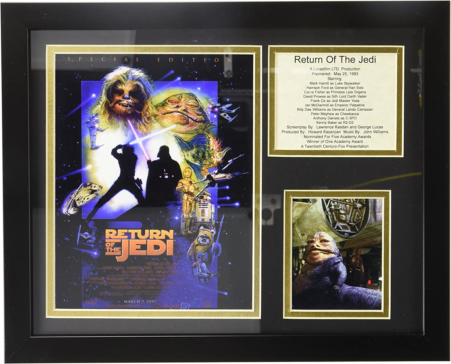 Legends Never Die Star Wars Return of The Jedi Special Edition Framed Photo Collage, 11 x 14-Inch