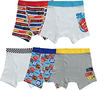 Disney Toddler Boys' Cars 5 Pack Boxer Brief