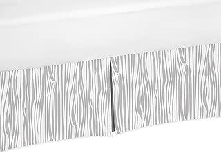 Sweet Jojo Designs Wood Grain Print Crib Bed Skirt Dust Ruffle for Boys Woodland Animals Collection Baby Bedding Sets