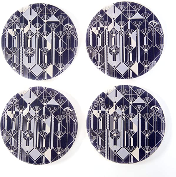 CoasterStone CS802 Frank Lloyd Wright April Showers Set Of 4 Coasters One Size Multicolor