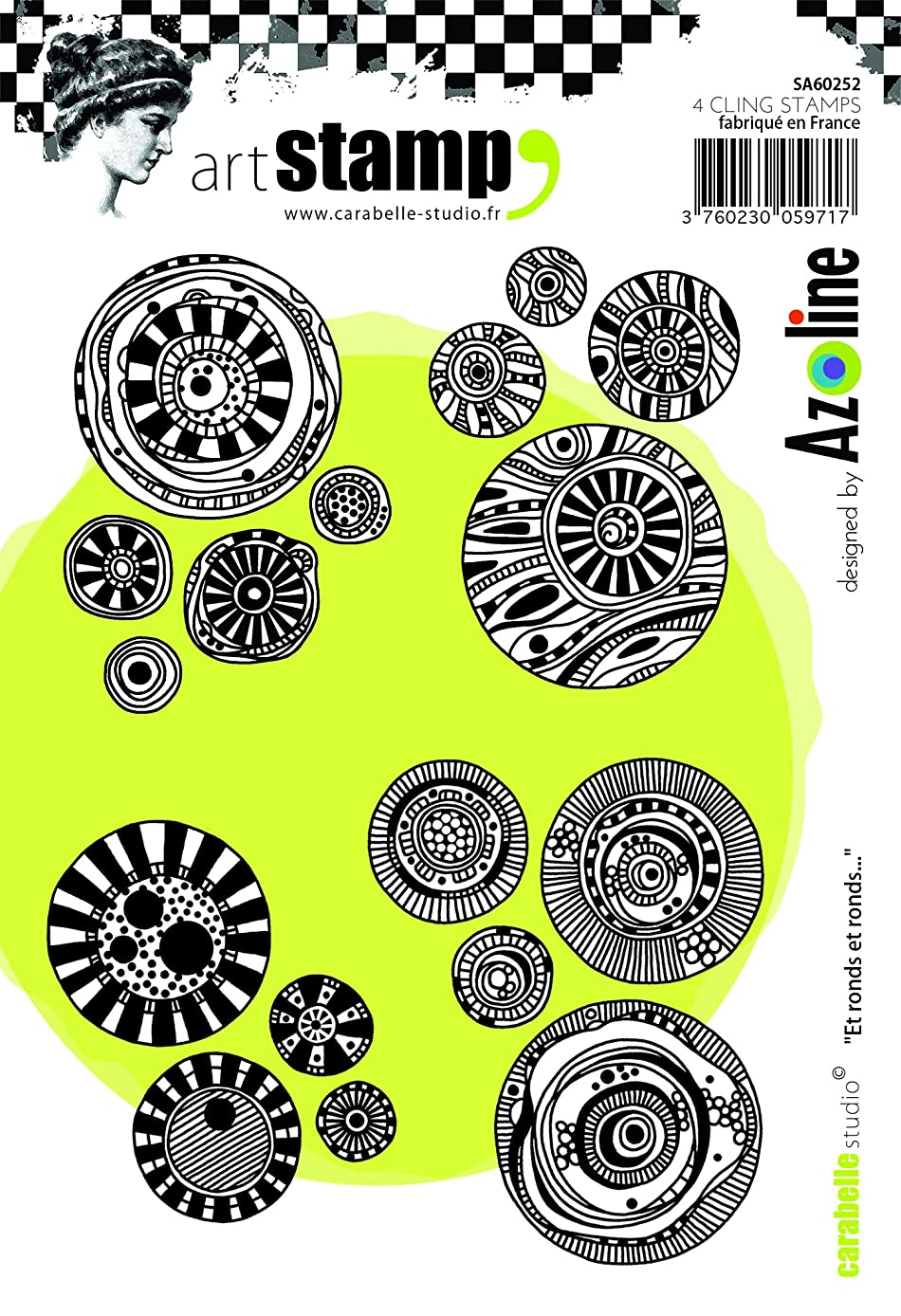 Carabelle Studio SA60252 A6 Stamp Set - Et ronds et ronds... by Azoline