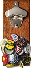 Wall Mounted Bottle Opener with Magnetic Cap Catcher, Refrigerator Mount with Magnets - Housewarming Gifts - Cool Christmas Gift - Mens Beer Gifts Ideas - Beer Gifts for Men - Thanksgiving Presents