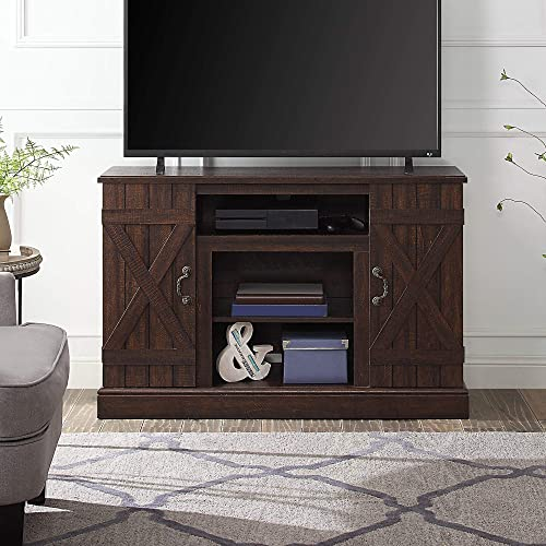 discount BELLEZE Industrial Rustic Wood TV Stand & Media Entertainment Center Console Table for TVs up to 50 Inch high quality with Open Storage Shelves & Cabinets – popular Veropeso (Espresso) outlet online sale