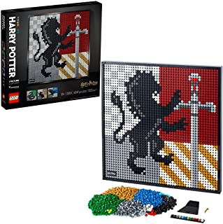 LEGO Art Harry Potter Hogwarts Crests 31201 Building Kit; Perfect for Adults Who Love Hobbies and Collectibles, New 2021 (...