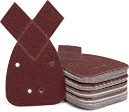 Schuurdriehoekset | 50 stuks | schuurblad | 140 mm | zelfklevend | muisschuurpapier | 4 gaten | korrel 40/60 / 80/120 / 24...