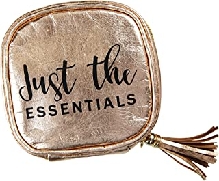 Essential oil carrying case | Rose Gold | Holds 4 standard bottles (15ml) or roller bottles (10ml) | Great for travel or daily use | Eco friendly material