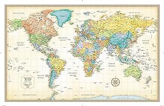 Rand McNally Classic World Wall Map - Laminated
