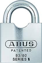 ABUS 83/80 可伸缩钢挂锁 银色钥匙扣 不同