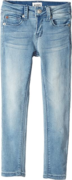 Collin Skinny Fit Five-Pocket French Terry in Light Wash (Toddler/Little Kids)