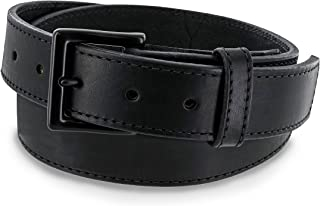 Hanks NO Break Black Out Leather Gun Belt - 17OZ for Concealed Carry CCW Tactical USE - Hand Crafted in The USA - 100 Year Warranty