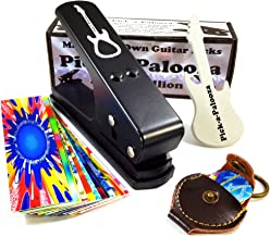 Pick-a-Palooza® DIY Guitar Pick Punch Mega Gift Pack - The Premium Guitar Pick Maker with a Leather Key Chain Pick Holder, 15 Guitar Pick Strips and a Guitar Shaped File - Now You Can Make Your Own Guitar Picks - Black