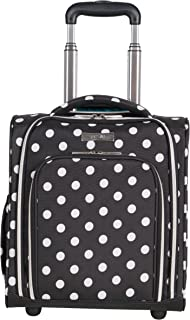 Heritage Travelware Women's Polka Dot Printed 600d Polyester 2-Wheel Underseater, Black