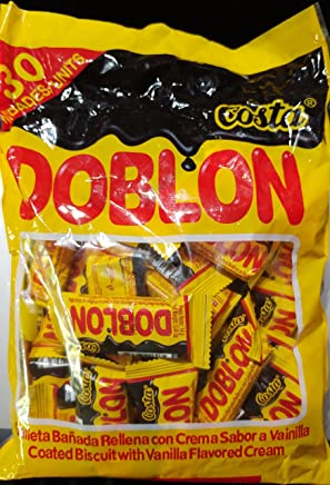 Cosa Doblon Chocolate Coated Biscuit with Vanilla Cream (Bag of 30 Pieces) from Peru